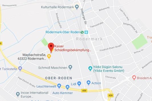 Schädlingsbekämpfung in Rödermark durch Kaiser Schädlingsbekämpfung